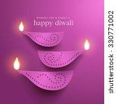 diwali festival background. | Shutterstock .eps vector #330771002