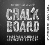 chalk alphabet letters and... | Shutterstock .eps vector #330771362