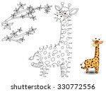 giraffe connect the dots and... | Shutterstock .eps vector #330772556
