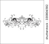 drawing hand vintage frame... | Shutterstock .eps vector #330806582
