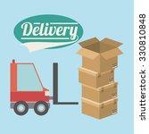 delivery service design  vector ...   Shutterstock .eps vector #330810848