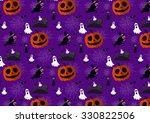 vector halloween pattern.... | Shutterstock .eps vector #330822506