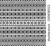 black and white seamless ethnic ... | Shutterstock .eps vector #330838322