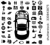 car repair engine vector | Shutterstock .eps vector #330843875