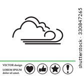 cloudy and the wind icon | Shutterstock .eps vector #330847265
