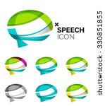 set of abstract speech bubble... | Shutterstock .eps vector #330851855