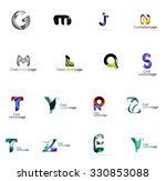 set of colorful abstract letter ... | Shutterstock .eps vector #330853088