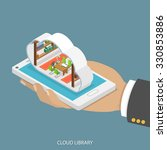Cloud Library Flat Isometric...