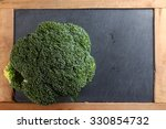 the fresh broccoli put on the... | Shutterstock . vector #330854732