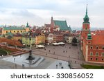 panoramic view of warsaw in a... | Shutterstock . vector #330856052