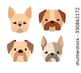cartoon bulldog. cute dogs... | Shutterstock .eps vector #330862172
