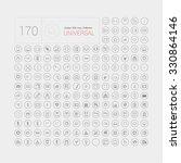 set of 170 universal modern... | Shutterstock .eps vector #330864146