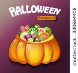 halloween background.candy in... | Shutterstock .eps vector #330864458