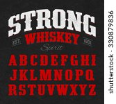 strong whiskey label font with... | Shutterstock .eps vector #330879836