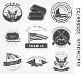 happy veterans day set.... | Shutterstock .eps vector #330886712