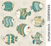 illustration of  fishes   Shutterstock .eps vector #330890666