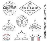 vintage dry cleaning emblems ... | Shutterstock . vector #330895976