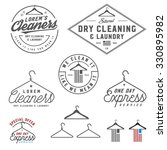 vintage dry cleaning emblems ... | Shutterstock .eps vector #330895982