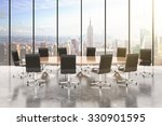 conference room with round... | Shutterstock . vector #330901595