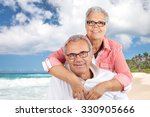 happy senior couple on the... | Shutterstock . vector #330905666