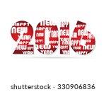 creative new year 2016 text... | Shutterstock .eps vector #330906836