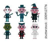 halloween character design.... | Shutterstock .eps vector #330912776