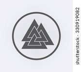 valknut symbol in circle ....   Shutterstock .eps vector #330919082