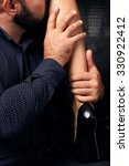handsome man's hand stroking...   Shutterstock . vector #330922412