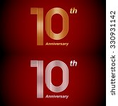 10 years anniversary gold and... | Shutterstock .eps vector #330931142
