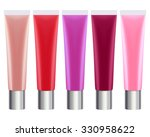 colorful lip gloss tubes set....   Shutterstock .eps vector #330958622