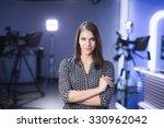 young beautiful brunette... | Shutterstock . vector #330962042