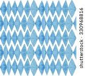 watercolor rhombus pattern | Shutterstock . vector #330968816