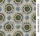 seamless pattern in the retro... | Shutterstock .eps vector #330969332