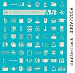 set of education flat icons | Shutterstock .eps vector #330972056
