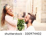 a picture of a romantic couple... | Shutterstock . vector #330974402
