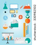 business  office  science icons ... | Shutterstock .eps vector #330982502