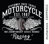 motorcycle racing typography  t ... | Shutterstock .eps vector #330995012