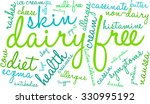dairy free word cloud on a... | Shutterstock .eps vector #330995192