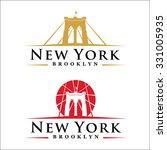 new york symbol   brooklyn... | Shutterstock .eps vector #331005935
