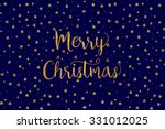 simple christmas card   dark ... | Shutterstock .eps vector #331012025