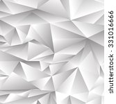 vector abstract grey polygonal... | Shutterstock .eps vector #331016666