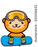 snowboarding animal series   Shutterstock . vector #331036652