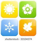 season buttons. | Shutterstock .eps vector #33104374