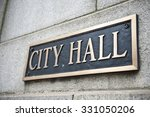 a blue colored plaque... | Shutterstock . vector #331050206