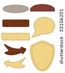 wooden buttons | Shutterstock .eps vector #33106201