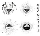 cyber monday banners set  noir... | Shutterstock .eps vector #331062392