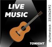 live guitar classic instrument...   Shutterstock .eps vector #331062692