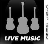 live guitar classic instrument...   Shutterstock .eps vector #331062698