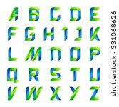 ecology english alphabet... | Shutterstock .eps vector #331068626