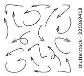 vector hand drawn arrows | Shutterstock .eps vector #331069418